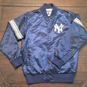 VTG Starter NY Yankees Varsity Jacket Striped Sz M